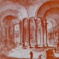 13 Cluny, Chorumgang der Klosterkirche, erbaut Ende 11. Jh., zerst. Ende 18. Jh.