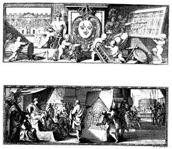 Titelbild: Vignette der Vitruv-Übersetzung von Perrault 1673