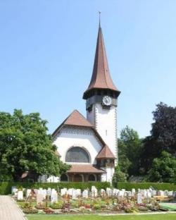 Spiez BE, ref. Kirche, 1908 Bischoff & Weideli