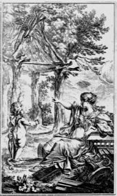 17 Urhütte, Stich von Ch. Eisen für die 2. Aufl. von Marc-Antoine Laugier
